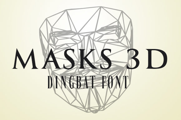 Download Free Masks 3d Font By Vladimirnikolic Creative Fabrica for Cricut Explore, Silhouette and other cutting machines.