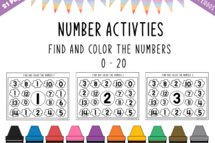 Download Free Number Activities Find The Numbers 0 20 Graphic By Happy Kiddos for Cricut Explore, Silhouette and other cutting machines.