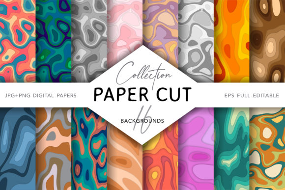 Paper Cut Backgrounds Graphic Backgrounds By digitalEye