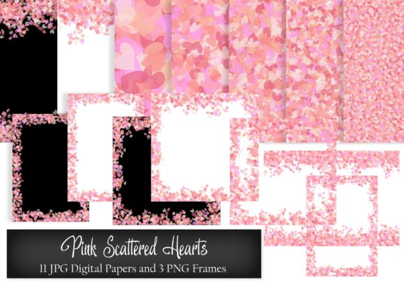Download Free Pink Scattered Hearts Digital Paper Graphic By Simply Paper for Cricut Explore, Silhouette and other cutting machines.