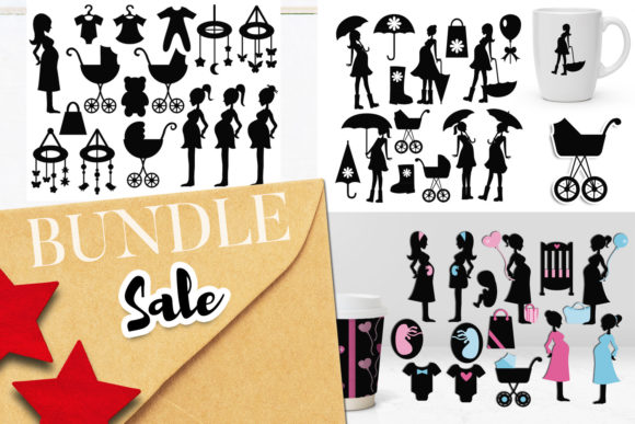 Print on Demand: Pregnant Woman Bundle Graphic Illustrations By Revidevi