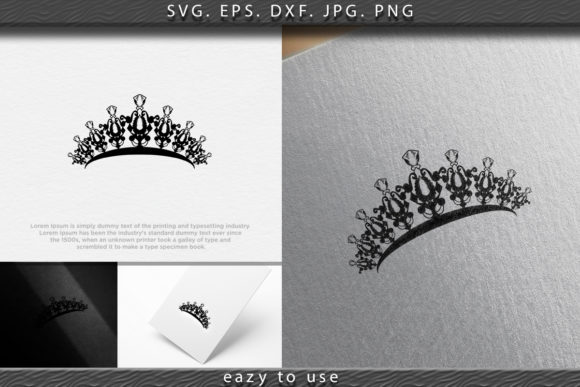 Print on Demand: Princes Tiara Crown or Royal Diadem Logo Gráfico Logos Por ojosujono96