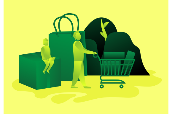Download Free Purchase Man Trolley Shopping Gradient Graphic By Ninik Studio for Cricut Explore, Silhouette and other cutting machines.