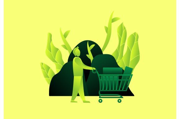 Download Free Purchase Man Trolley Shopping Gradient V Graphic By Ninik Studio for Cricut Explore, Silhouette and other cutting machines.