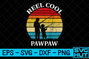 Print on Demand: Reel Cool Pawpaw Graphic Print Templates By svg_hut
