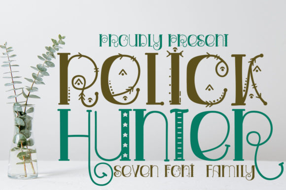 Print on Demand: Relick Hunter Display Font By edwar.sp111