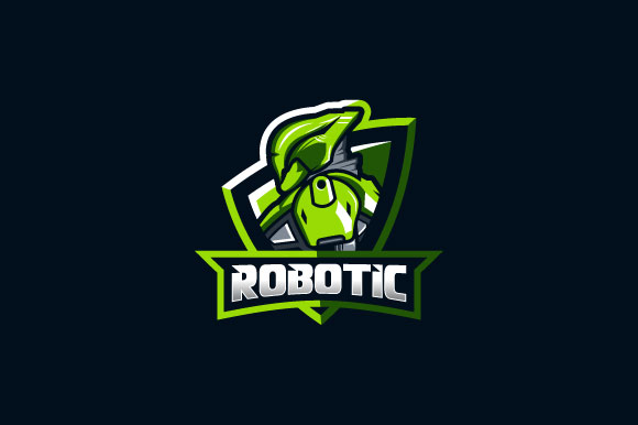 Download Free Robotic Esport Logo Design For Gaming Graphic By Burhan Bn006 for Cricut Explore, Silhouette and other cutting machines.