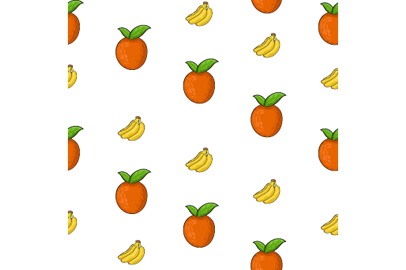 Seamless Orange and Banana Vector Graphic Food & Drinks By ninik.studio
