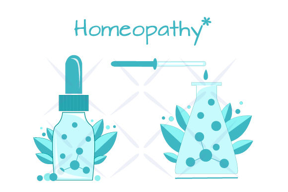 Download Free Set Of Icons Homeopathic Medecine Graphic By Design Studio for Cricut Explore, Silhouette and other cutting machines.