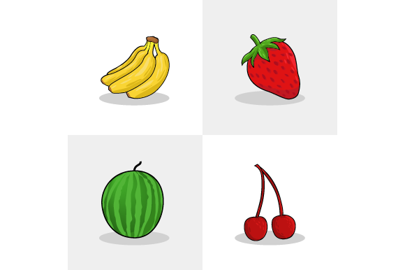 Set of Collection Fruit Vector Organic Graphic Food & Drinks By ninik.studio