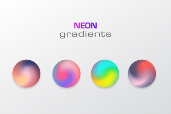 Sphere Neon Colors Gradients Isolated Graphic Illustrations By Kapitosh