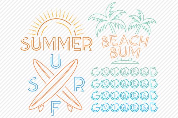 Print on Demand: Summer Super Bundle - Summer Designs Graphic Crafts By texassoutherncuts - Image 4