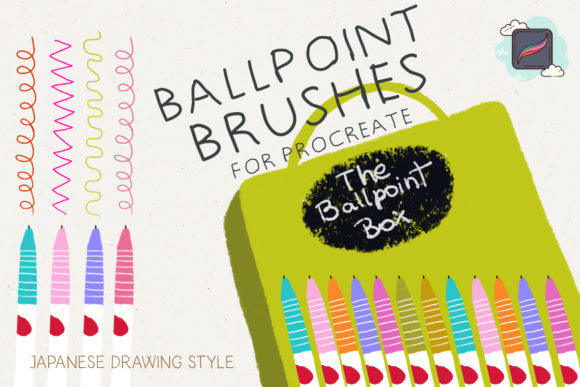 The Procreate Ballpoint Box Graphic Brushes By Just Bia