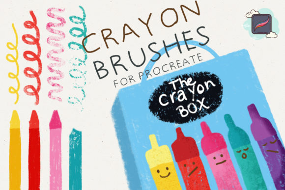 The Procreate Crayon Box Graphic Brushes By Just Bia