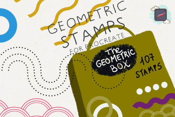 The Procreate Geometric Box Graphic Brushes By Just Bia