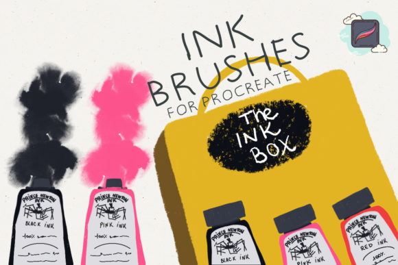 The Procreate Ink Box Graphic Brushes By Just Bia