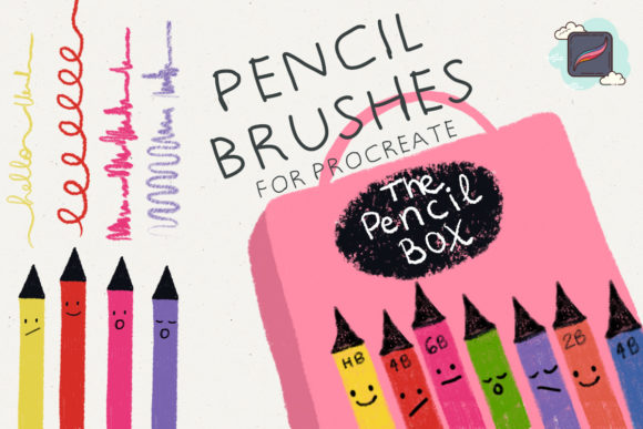 Download Free The Procreate Pencil Box Graphic By Just Bia Creative Fabrica for Cricut Explore, Silhouette and other cutting machines.