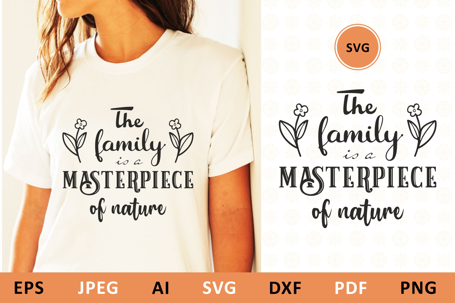 Download Free The Family Is A Masterpiece Of Nature Graphic By Millerzoa SVG Cut Files