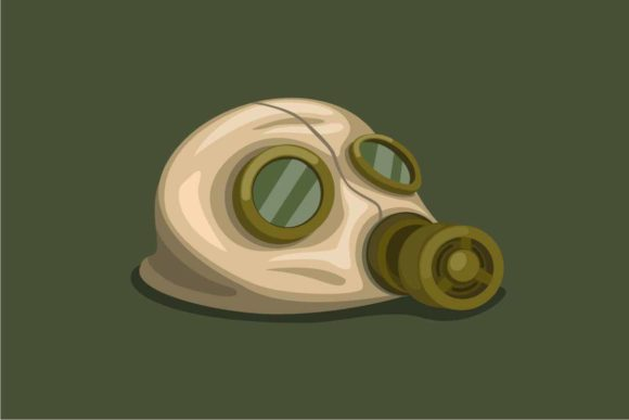 Download Free Vintage Rubber Hazard Gas Mask On Floor Graphic By Aryo Hadi for Cricut Explore, Silhouette and other cutting machines.
