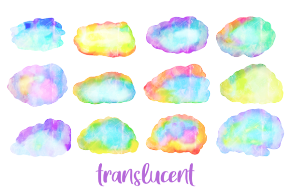 Print on Demand: Watercolor Ink Blot Border Templates Graphic Backgrounds By Prawny - Image 2