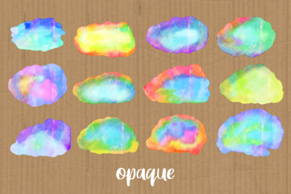Print on Demand: Watercolor Ink Blot Border Templates Graphic Backgrounds By Prawny - Image 3