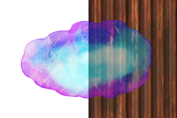 Print on Demand: Watercolor Ink Blot Border Templates Graphic Backgrounds By Prawny - Image 5