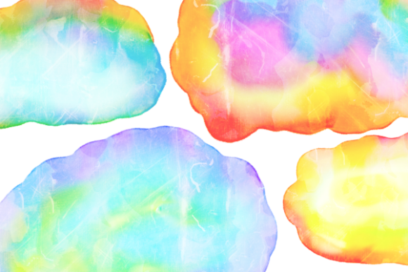 Print on Demand: Watercolor Ink Blot Border Templates Graphic Backgrounds By Prawny - Image 6