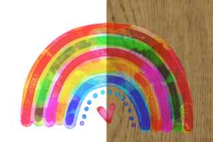 Print on Demand: Watercolor Rainbow Doodle Design Element Graphic Illustrations By Prawny 5