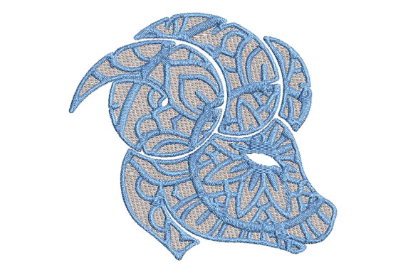 Print on Demand: Zodiac Aries Mandala Style Religion & Faith Embroidery Design By Embroidery Shelter