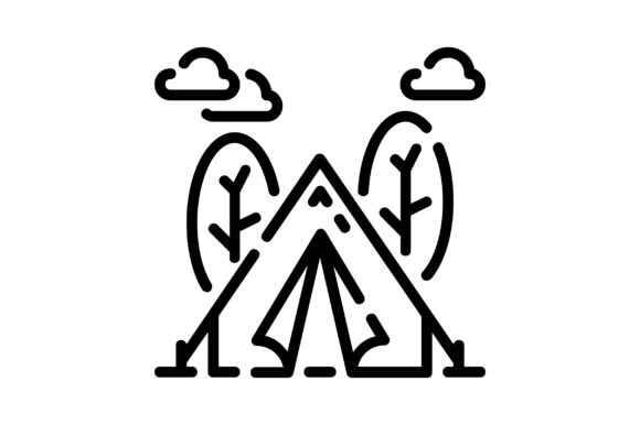 Print on Demand: Camping Graphic Icons By khld939