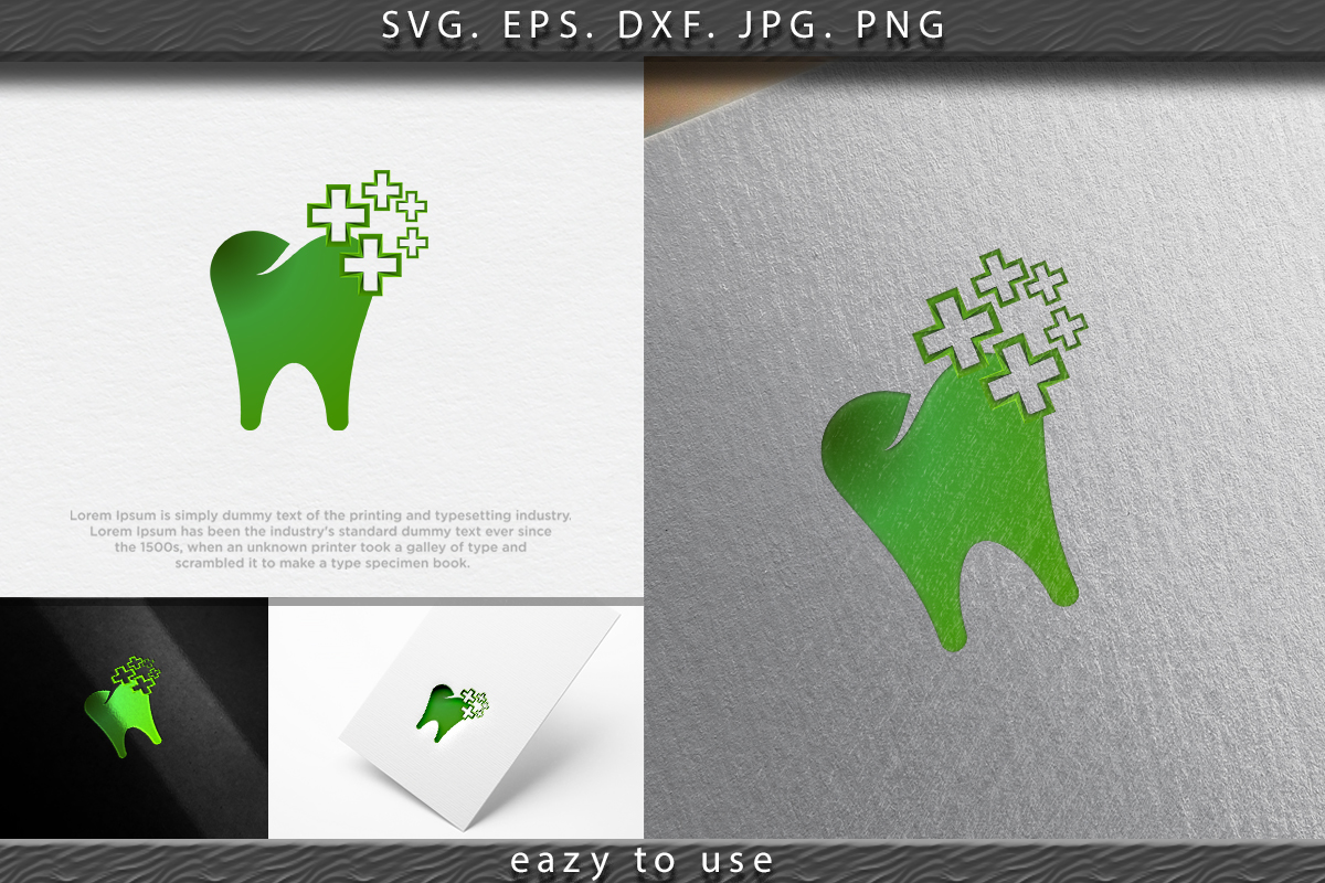 Download Free Dental Cross Logo Ideas Inspiration Graphic By Ojosujono96 for Cricut Explore, Silhouette and other cutting machines.