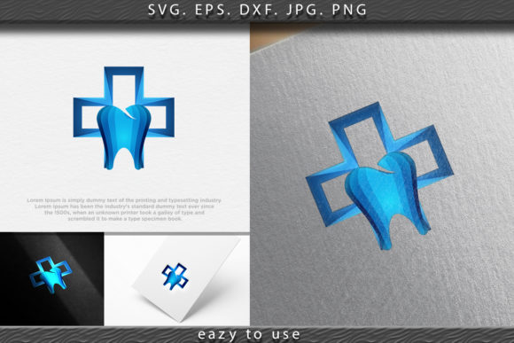 Download Free Dental Cross Logo Ideas Inspiration Log Graphic By Ojosujono96 SVG Cut Files