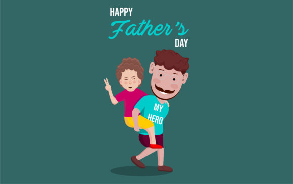 Print on Demand: Happy Father's Day Vector Illustration Graphic Illustrations By ngabeivector