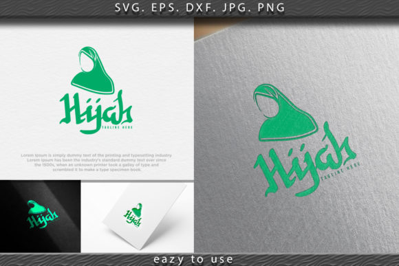 Download Free Hijab Logo With Text Space For Your Slog Graphic By Ojosujono96 for Cricut Explore, Silhouette and other cutting machines.