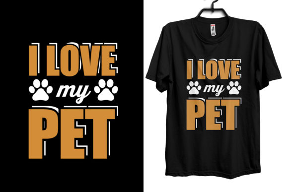 Pet Animal T-Shirt Design Graphic Print Templates By Storm Brain
