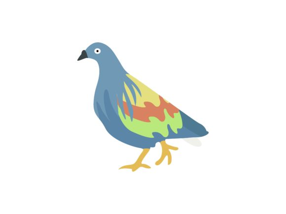 Download Free Pigeon Walking Bird Animal Graphic By Archshape Creative Fabrica for Cricut Explore, Silhouette and other cutting machines.