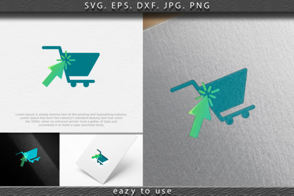 Download Free Pointer Arrow Click And Trolley Onlin Graphic By Ojosujono96 for Cricut Explore, Silhouette and other cutting machines.
