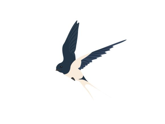 Download Free Swallow Flaying Bird Animal Graphic By Archshape Creative Fabrica for Cricut Explore, Silhouette and other cutting machines.