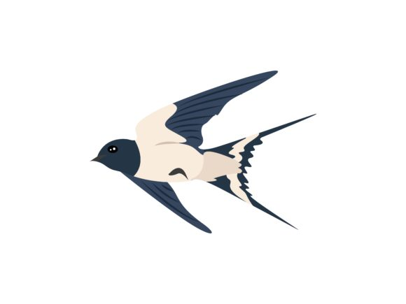 Download Free Swallow Flaying Glide Bird Animal Graphic By Archshape for Cricut Explore, Silhouette and other cutting machines.
