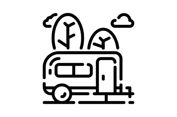 Print on Demand: Travel Trailer Graphic Icons By khld939