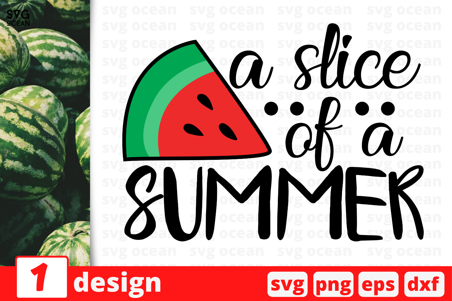 Download Free 1 A Slice Of A Summer Svg For Cricut Graphic By Svgocean for Cricut Explore, Silhouette and other cutting machines.