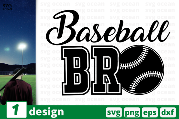 Download Free Baseball Bro Graphic By Svgocean Creative Fabrica for Cricut Explore, Silhouette and other cutting machines.
