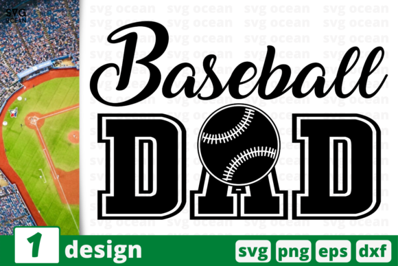 Download Free 1 Baseball Dad Baseball For Cricut Graphic By Svgocean for Cricut Explore, Silhouette and other cutting machines.