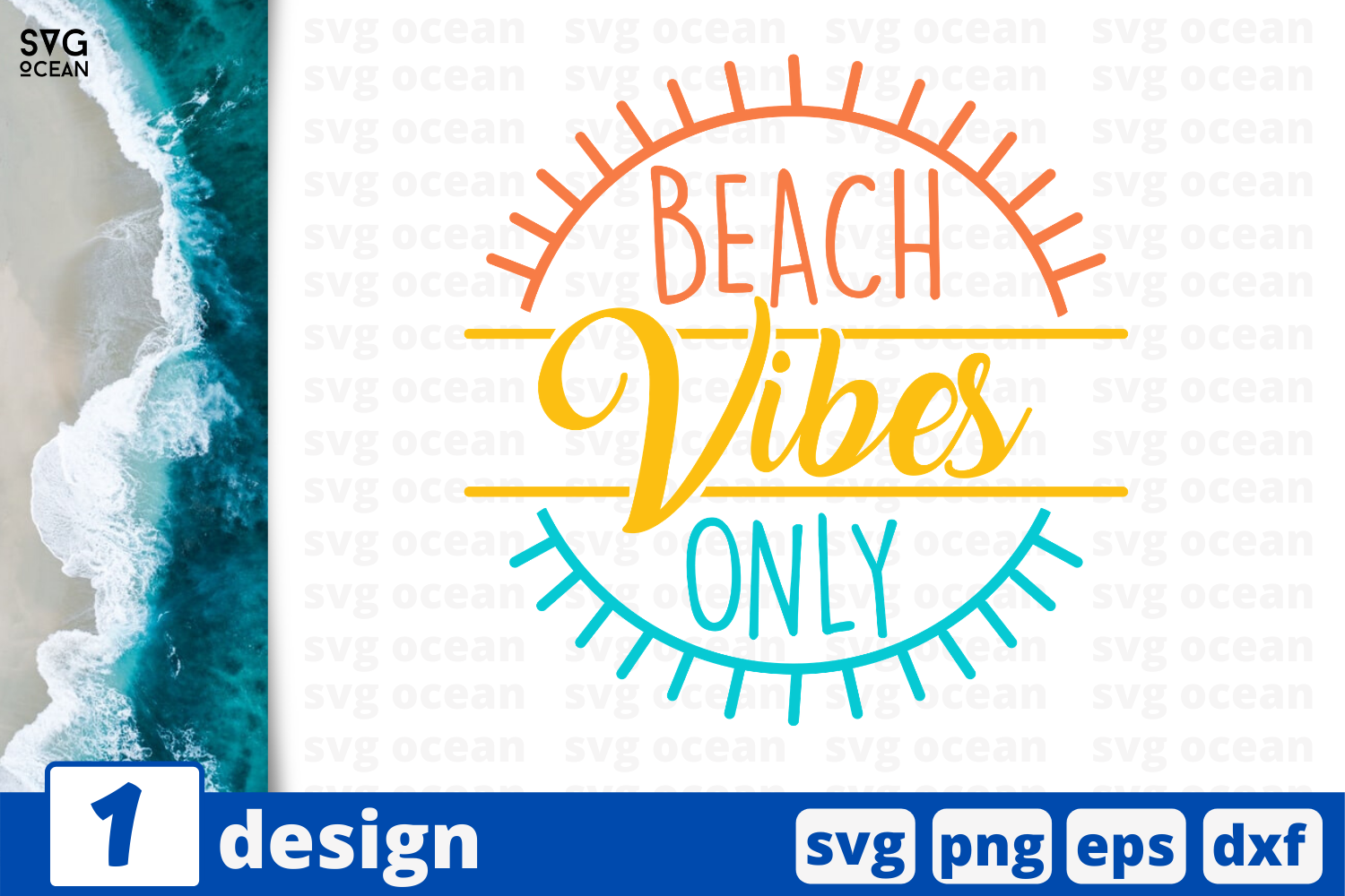 Download Free 1 Beach Vibes Only Summer Svg Cricut Graphic By Svgocean for Cricut Explore, Silhouette and other cutting machines.