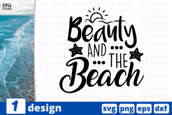 Download Free 1 Beauty And The Beach Summer Svg Cricut Graphic By Svgocean for Cricut Explore, Silhouette and other cutting machines.