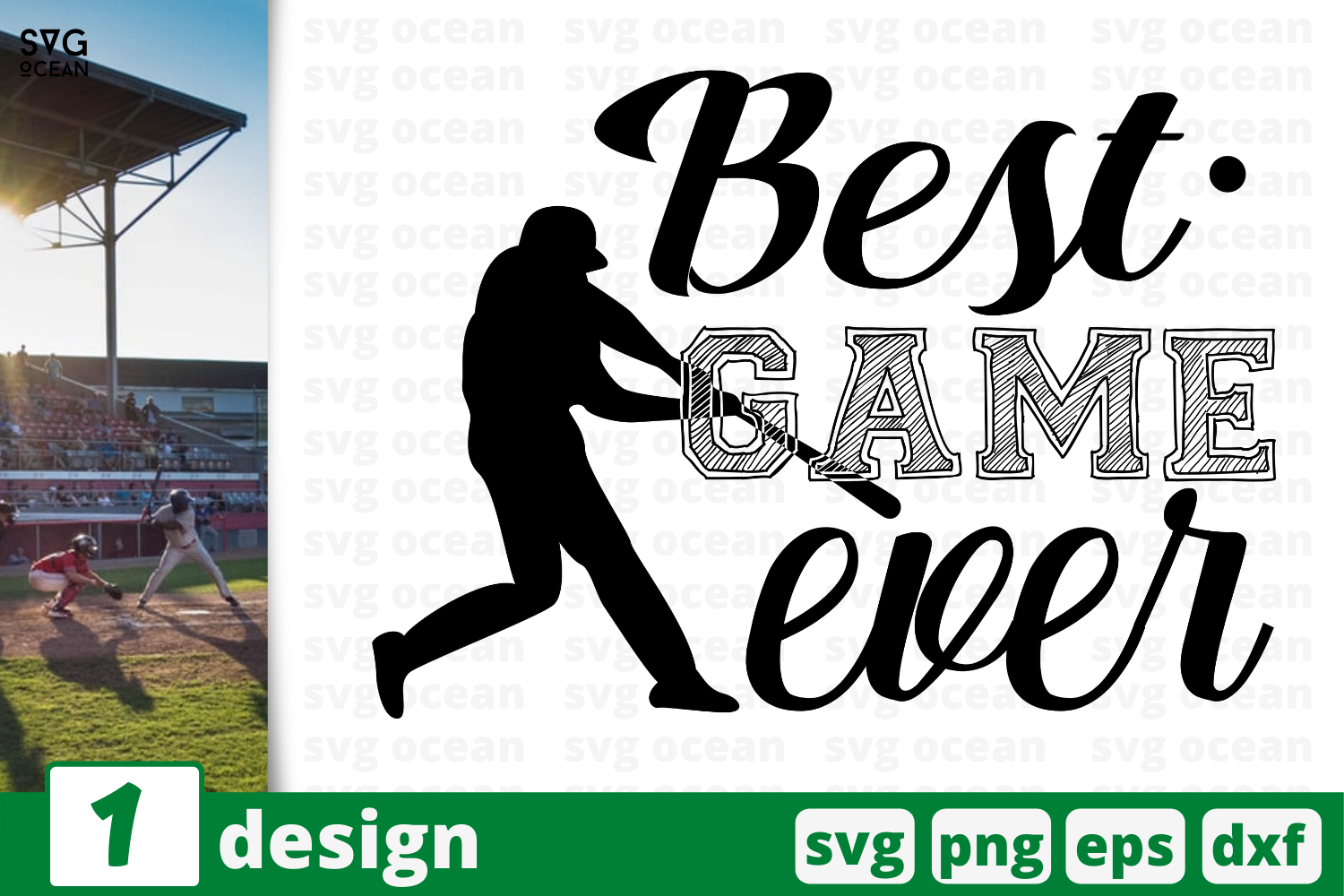 Download Free 1 Best Game Ever Baseball For Cricut Graphic By Svgocean Creative Fabrica for Cricut Explore, Silhouette and other cutting machines.