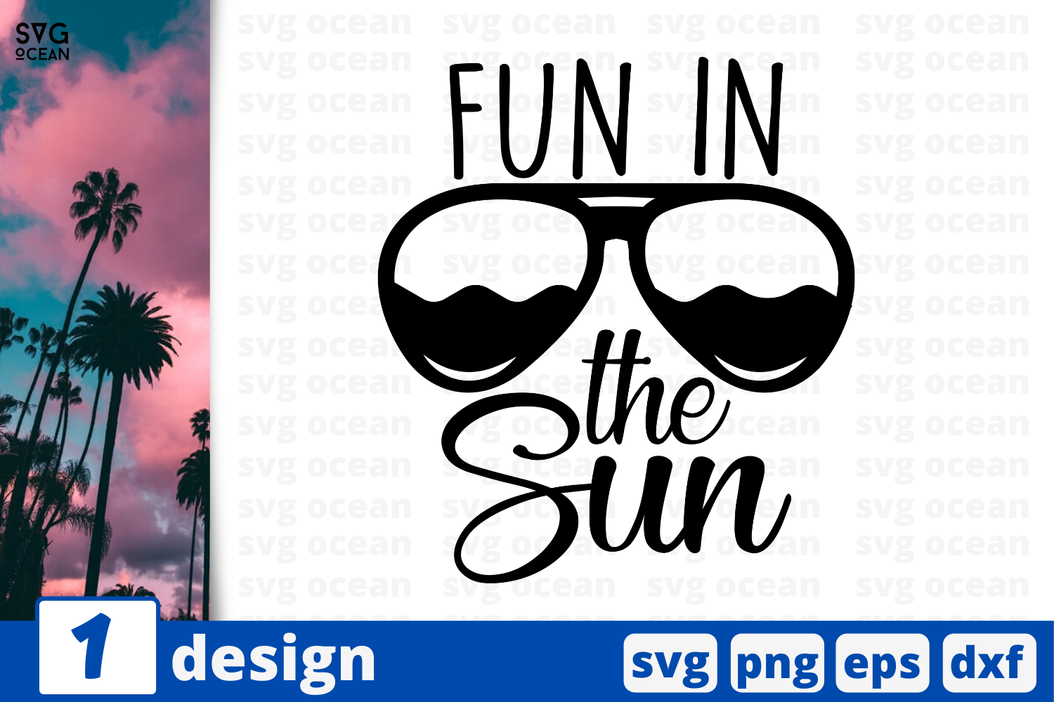 Download Free 1 Fun In The Sun Summer Svg For Cricut Graphic By Svgocean for Cricut Explore, Silhouette and other cutting machines.