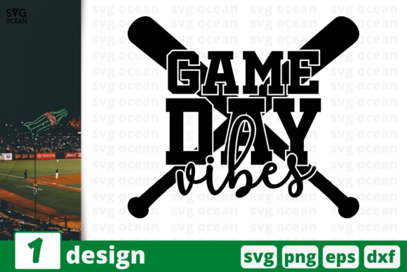 Download Free 1 Game Day Vibes Baseball For Cricut Graphic By Svgocean for Cricut Explore, Silhouette and other cutting machines.