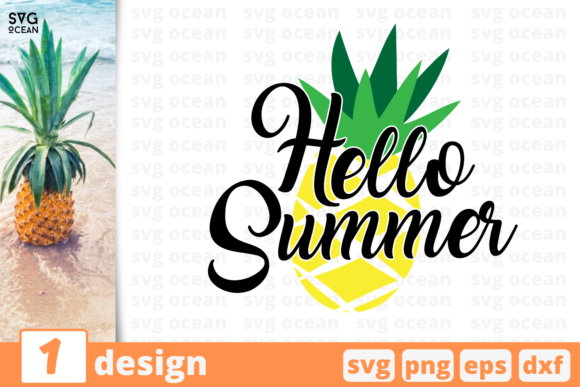 Download Free 1 Hello Summer Summer Svg For Cricut Graphic By Svgocean SVG Cut Files