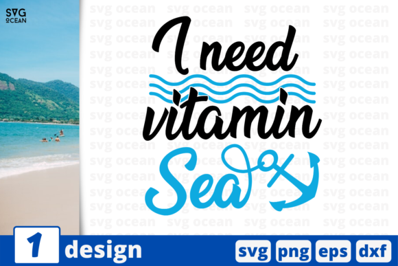 Download Free 1 I Need Vitamin Sea Summer Svg Cricut Graphic By Svgocean for Cricut Explore, Silhouette and other cutting machines.
